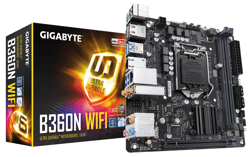 Gigabyte B360N WIFI motherboard LGA 1151 (Socket H4) Mini ITX Intel B360 Express