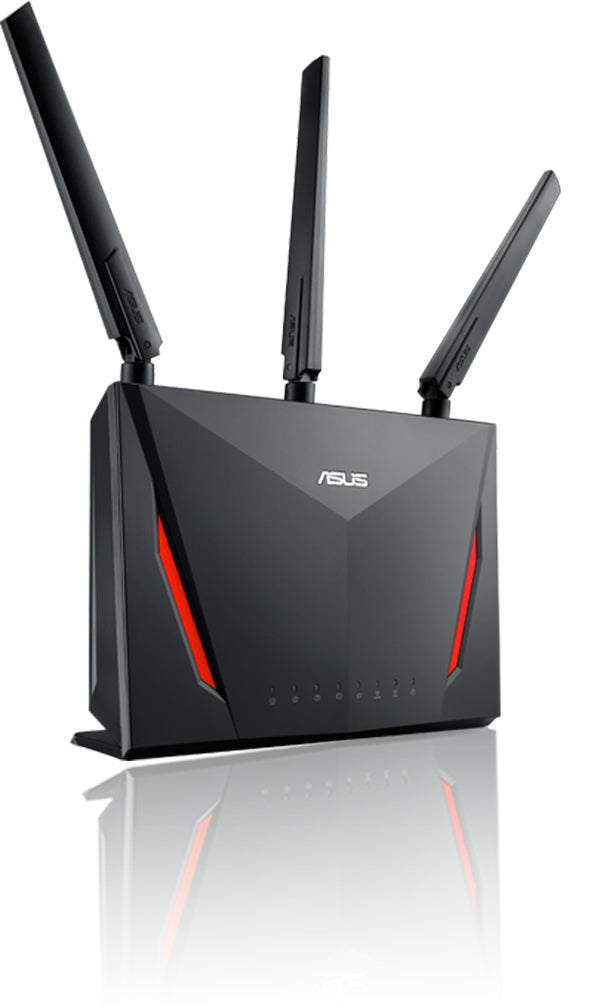 ASUS RT-AC86U wireless router Dual-band (2.4 GHz / 5 GHz) Gigabit Ethernet Black