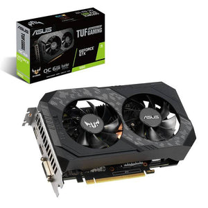 Asus TUF Gaming NVIDIA GeForce GTX 1660 Overclocked Dual-Fan 6GB GDDR5 DVI/HDMI/DisplayPort PCI-Express Video Card