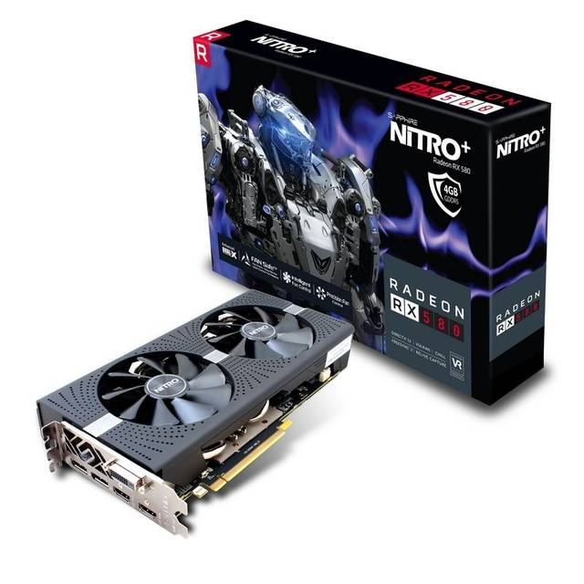 Sapphire Nitro+ AMD Radeon RX 580 4G GDDR5 DVI/2HDMI/2DisplayPort PCI-Express Video Card