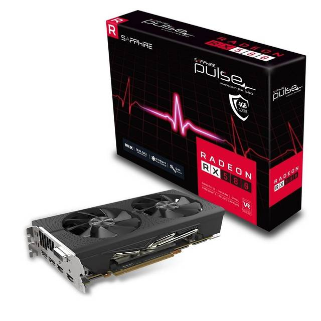 Sapphire PULSE AMD Radeon RX 580 4G GDDR5 DVI/2HDMI/2DisplayPort PCI-Express Video Card