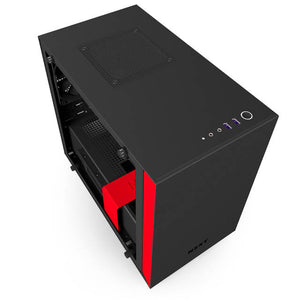 NZXT H200i No Power Supply Mini-ITX Case w/ Lighting and Fan Control (Matte Black/Red)