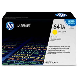 HP Toner, C9722A, 641A, Yellow, 8,000 pg yield