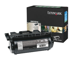 Lexmark Toner, 64015HA, Black, 21,000 pg yield
