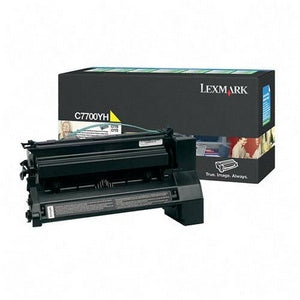 Lexmark Toner, C7700YH, Yellow, 10,000 pg yield