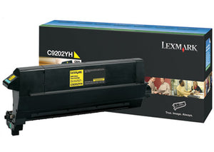 Lexmark Toner, C9202YH, Yellow, 14,000 pg yield