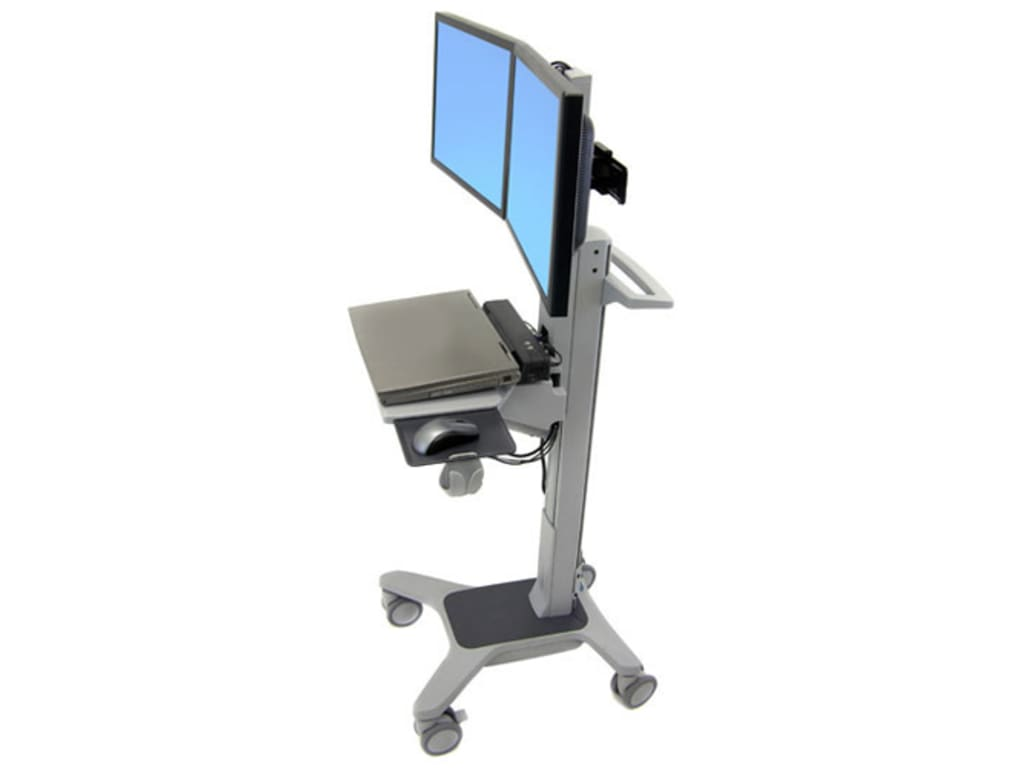 ERGOTRON NEO-FLEX DUAL WIDEVIEW WORKSPACE.CONFIGURABLE HEIGHT-ADJUSTABLE SIT-STA