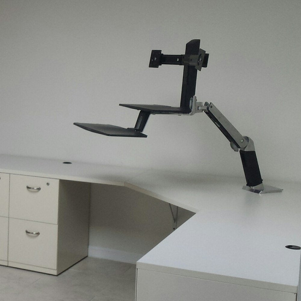 Ergotron WorkFit-A Dual Workstation with Suspended Keyboard Standing Desk