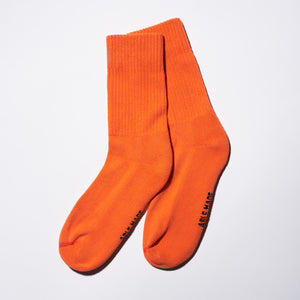 Energy Orange Crew Socks