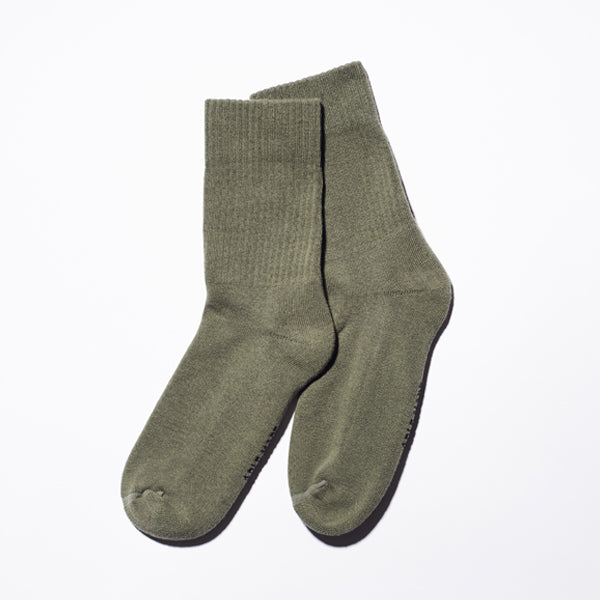 Take 5 Olive Crew Socks