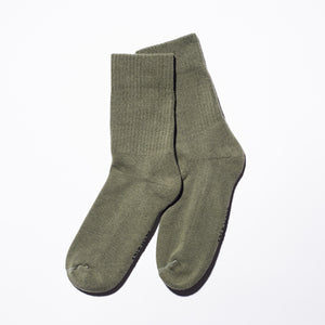 Take 5 Olive Crew Socks, Large