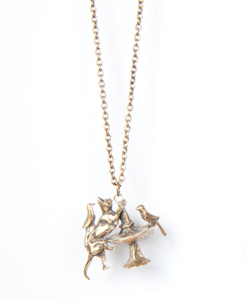 Annabelle Pendant Necklace, Brass