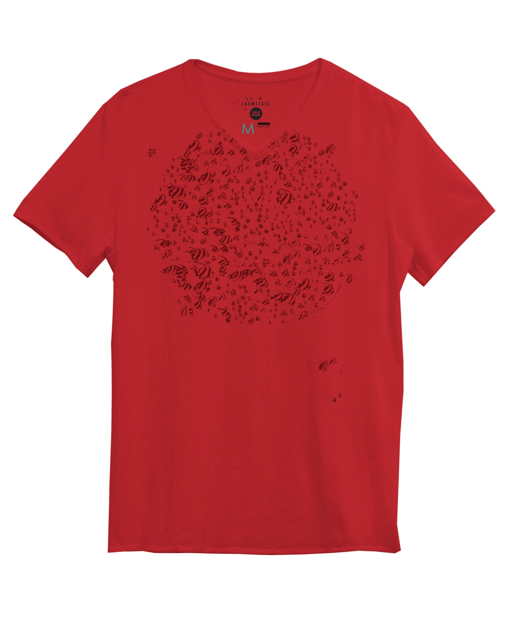 Men's Red Power in Numbers Tee
