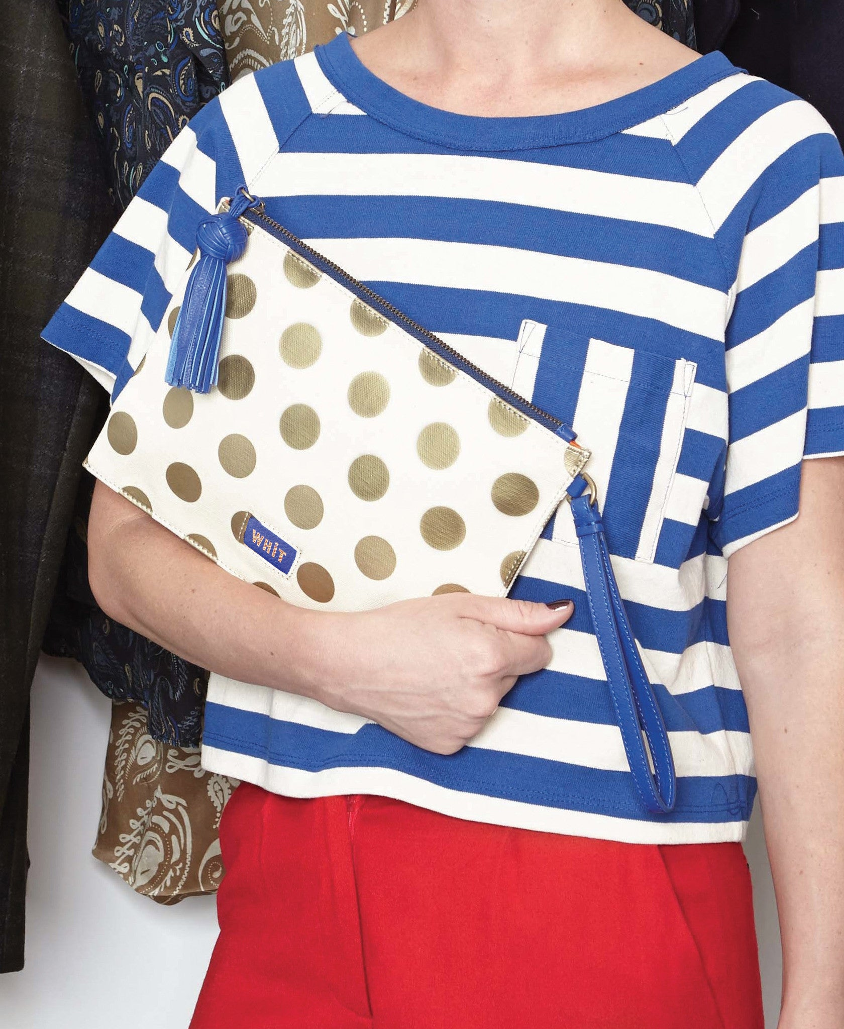 Able Made x WHIT Peru Dot Clutch