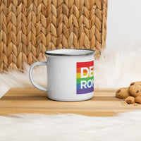Derek and Romaine Rainbow Enamel Mug