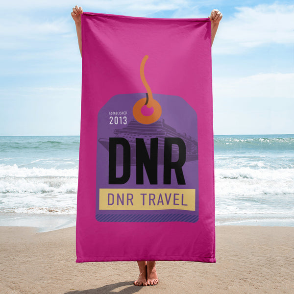 DNR Travel Beach Towel