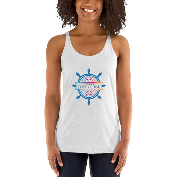 Encore Love Cruise Ship's Wheel- Women's Racerback Tank