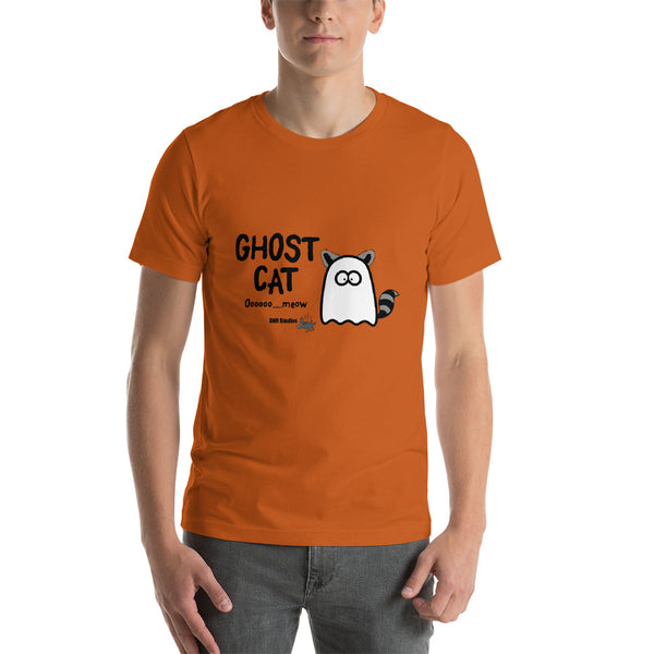 Ghost Cat- Short-Sleeve Unisex T-Shirt