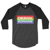 Derek and Romaine Campaign 3/4 sleeve raglan shirt