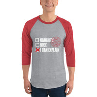 Naughty But Nice - 3/4 sleeve raglan shirt