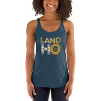 Land Ho- Tile- Women's Racerback Tank