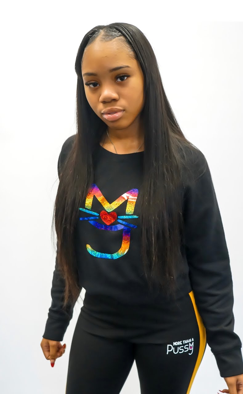 The Niya, M.T.A.P. Kitty Crop Fleece Sweatshirt
