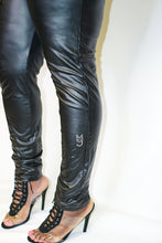 Load image into Gallery viewer, The Kimmie, M.T.A.P. Black Faux Leather Leggings