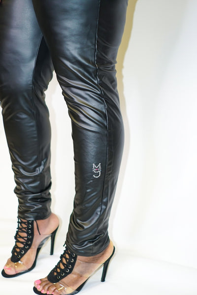 The Kimmie, M.T.A.P. Black Faux Leather Leggings