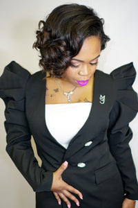 M.T.A.P. Couture Puff Sleeve Blazer