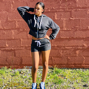 The Breonna Taylor Zip Front Semi-Cropped Hoodie w/shorts