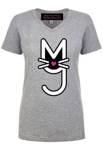 Big Kitty Tee-Heather Gray