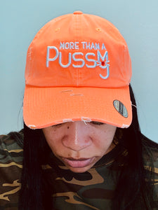 The Monica, Neon Orange Distressed Dad Hat