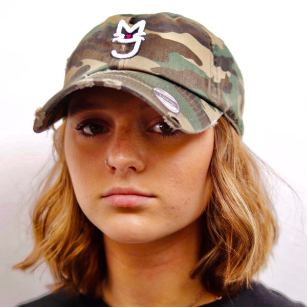The Monica, Army Fatigue M.T.A.P. Kitty Distressed Dad Hat
