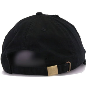 The Monica, Black Distressed Dad Hat