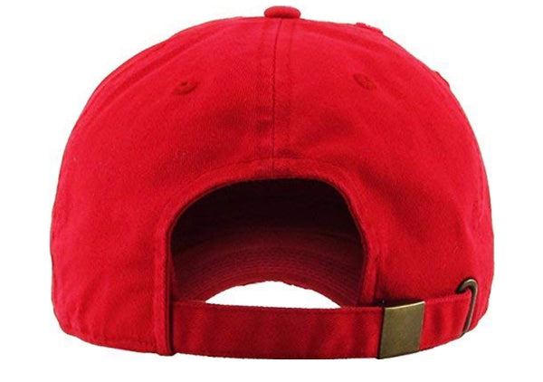 The Monica, Red Distressed Dad Hat