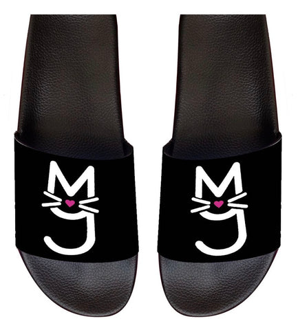 Slide-On sandal with M.T.A.P. Kitty white logo