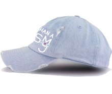 Load image into Gallery viewer, The Monica, Light Denim Distressed Dad Hat