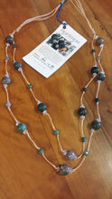 Moss Agate Ball Necklace and Earrings