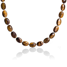 Tiger Eye and Silver Necklace and Earring Set