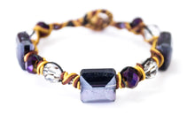 Purple Crystal Bracelet with Japanese Thread