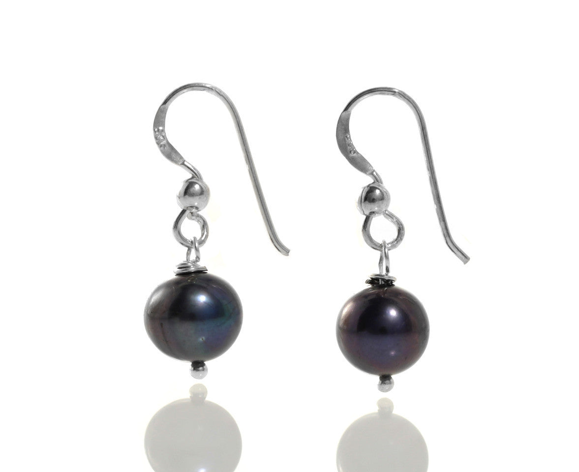 Classic Black Pearl Earrings
