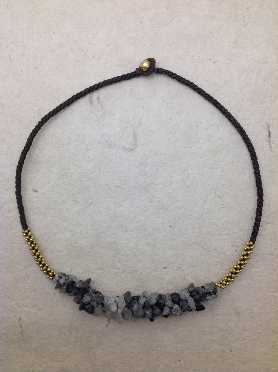 Agate (Grey) Collar Necklace