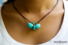 Turquoise-colored Butterfly Necklace