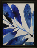Indigo Tropical Leaves I