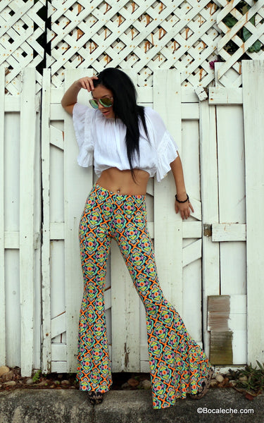 Kaleidoscope bell bottoms pants - BOCALECHE - 7