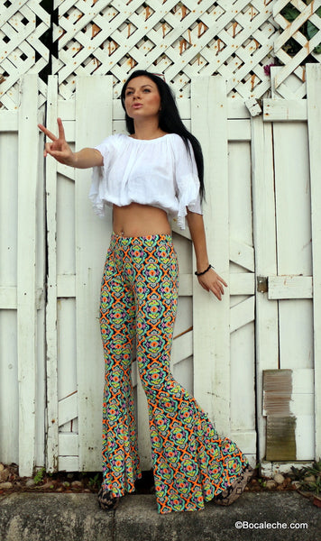 Kaleidoscope bell bottoms pants - BOCALECHE - 6