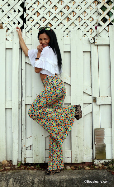 Kaleidoscope bell bottoms pants - BOCALECHE - 3