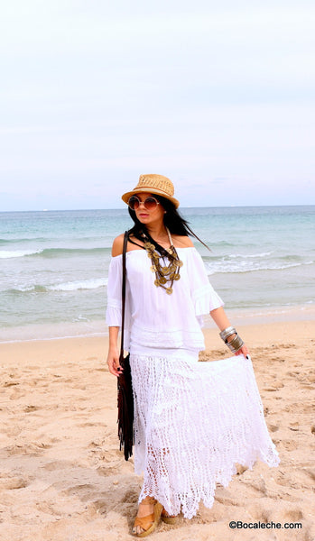 White Chic Maxi Skirt - BOCALECHE - 5