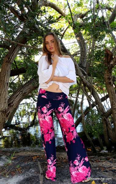 Fearless Floral Exuma Pants - BOCALECHE - 1