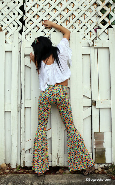 Kaleidoscope bell bottoms pants - BOCALECHE - 5